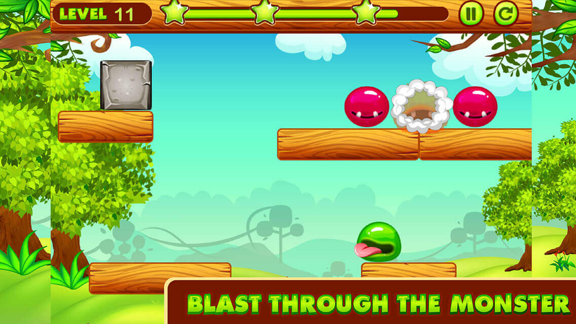 Monster World Physics Game