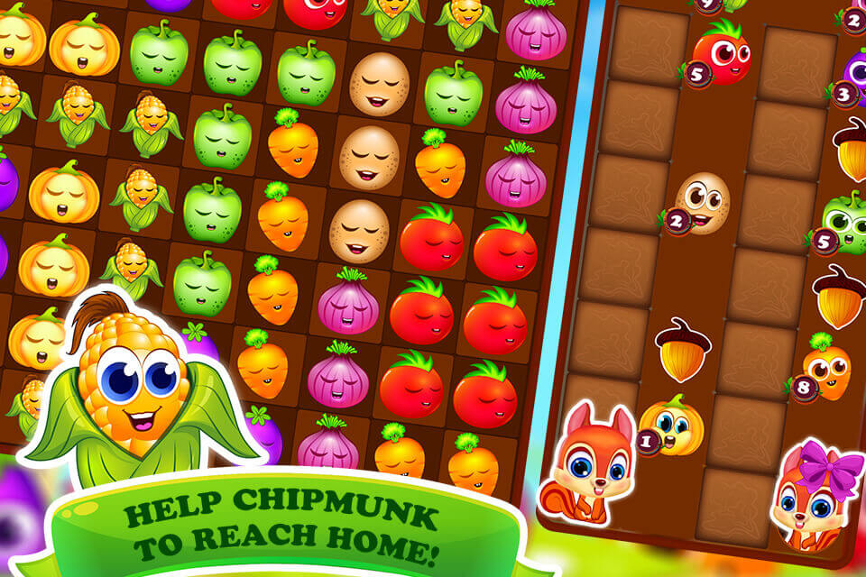 Veggie Splash - Match-3 Puzzle Fun