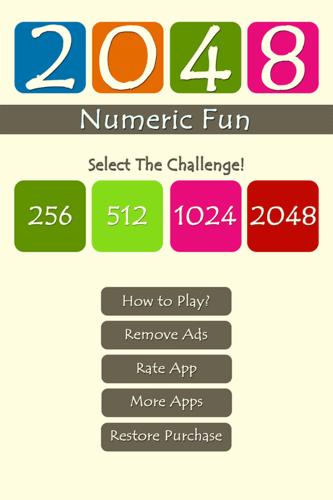 2048 Numeric Fun